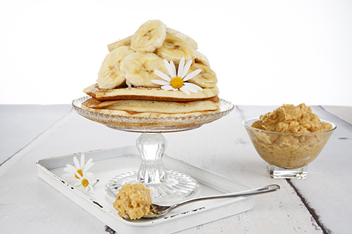 Maple Syrup & Banana Pancake Stack