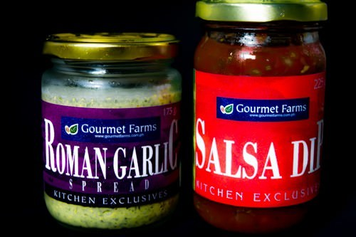 Salsa and spread - from the fridge