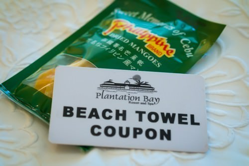 Beach Towel Coupon and Dried Mangoes
