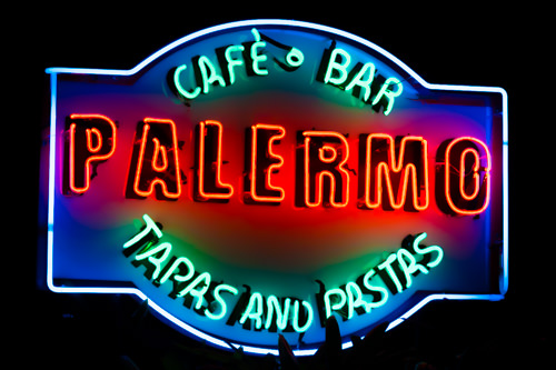 Palermo Restaurant - Night Signage
