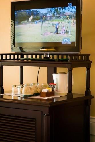 Plantation Bay TV and Fridge