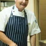 Sous Chef Mark Gibbs Scooping Pecan Ice Cream