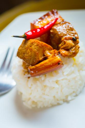 Easy Pork Adobo - Rice Topping