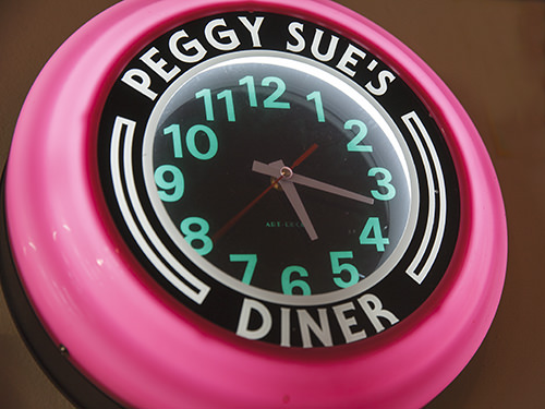 Peggy Sue Diner Clock