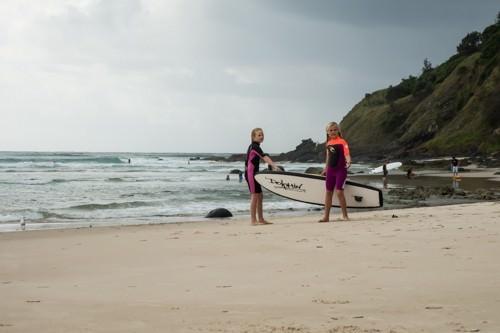 Raes on Wategos - Surfer Kids