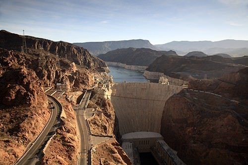 Hoover Dam From Bridge