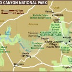Map Grand Canyon National Park