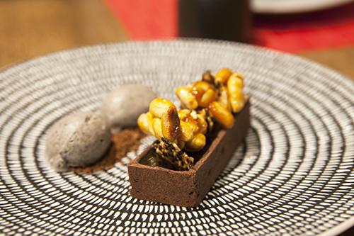 Bitter Chocolate Tart w Black Sesame Ice-cream