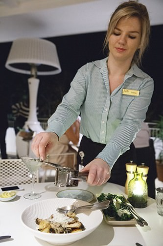 Cucina Vivo Gnocchi & our Lovely Irish Waitress
