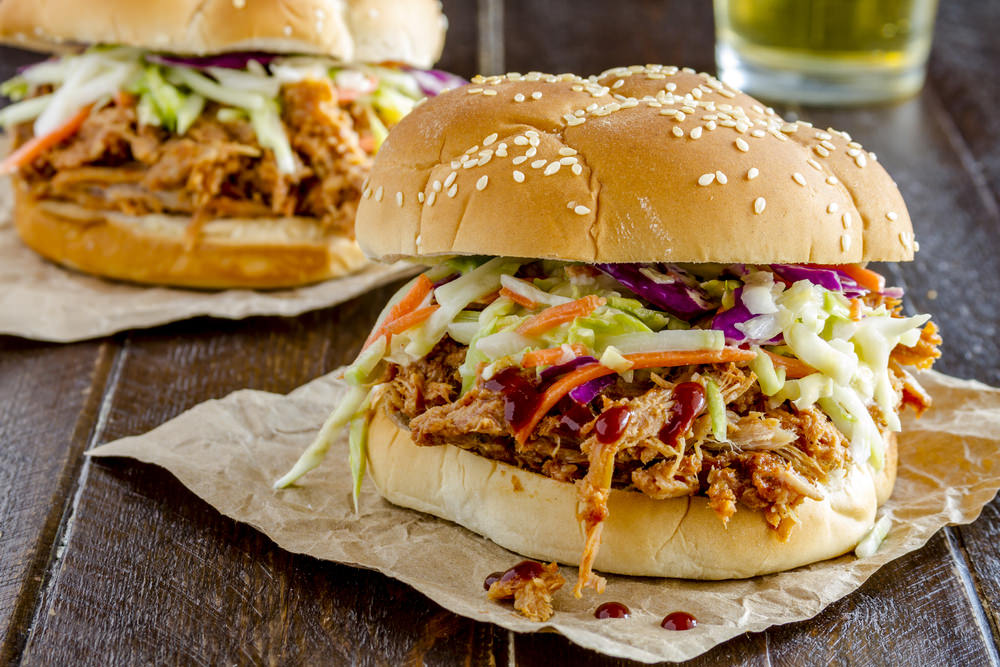 Juicy Pulled Pork Burger Slow Cooker Recipe Delish!