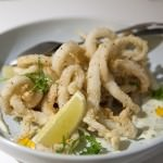 Calamari Fritti Lightly fried, served with dill aioli, frisée salad