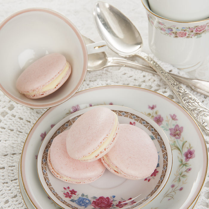 Turkish Delight Pink Macarons