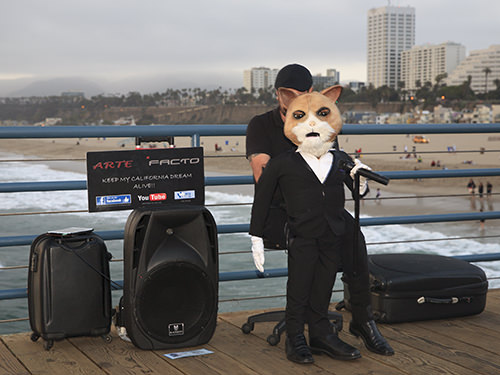 Busker at Santa Monica Pier 1