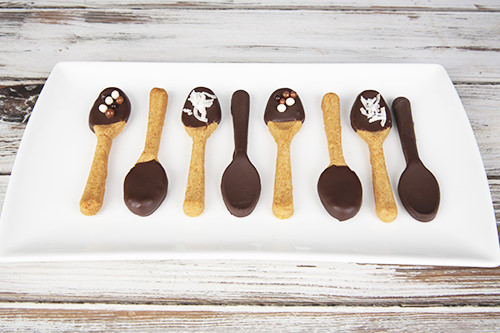 Chocolate & Caramel Edible Spoons