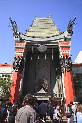 Outside Chinese Theatre Hollywood