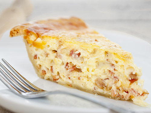 Bacon Quiche Slice