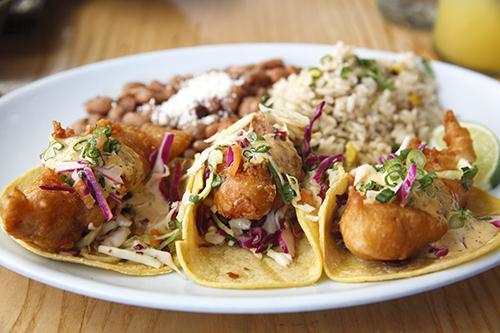 Blue Plate Taco - Baja Fish Taco