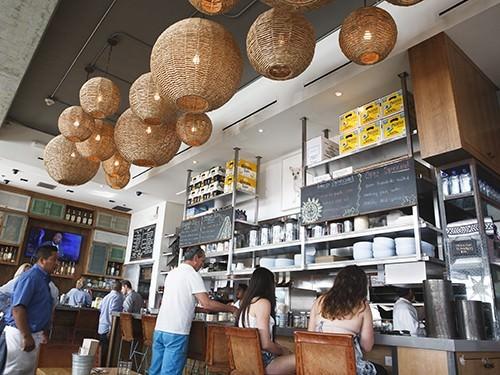 Blue Plate Taco Bar Area