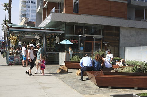 Blue Taco Plate Santa Monica Waiting Area