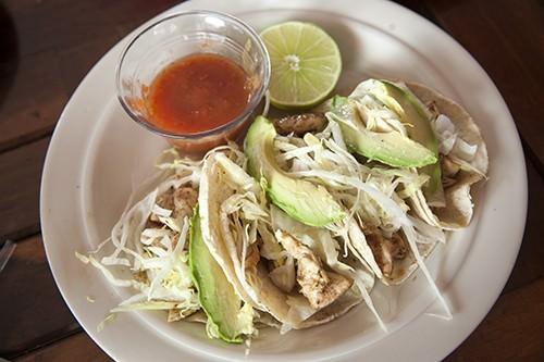 Chicken Tacos - Tulum Mexico