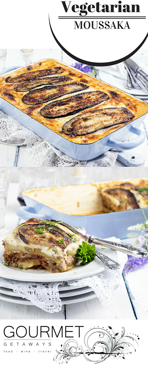 Healthy Vegetarian Lentil Moussaka -Pin