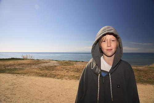 Locky Santa Barbara - Not so keen to surf!