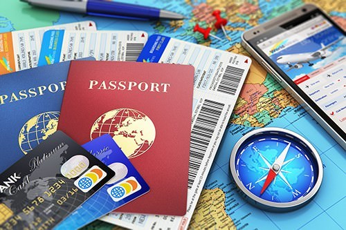 Photograph Essential Travel Documents (not credit cards)