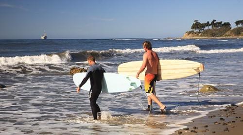Surfing Cedar w Brett Devereuax Beach