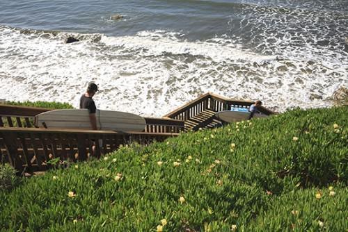 Surfing Santa Barbara Devereuax Beach