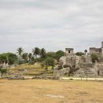 Watchtower at Tulum Mayan Ruins Mexico
