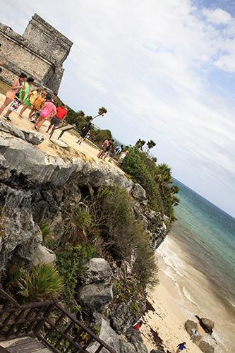 Tulum Ruins Coastline Near the Watchtower