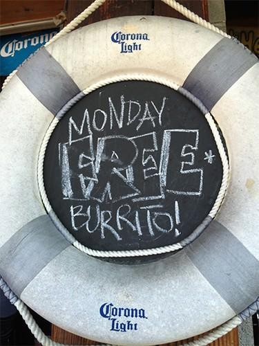 Cabo Cantina - Free Burrito Monday!