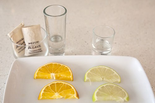 Mezcal & Tequila w Orange and Lime