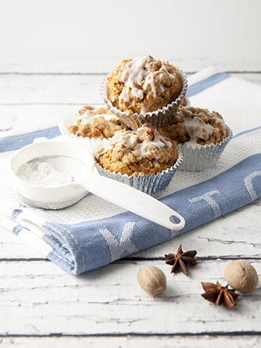 Pumpkin Muffins w Struesel Topping