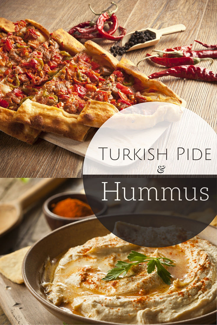 Turkish Pide Recipe w Homemade Hummus
