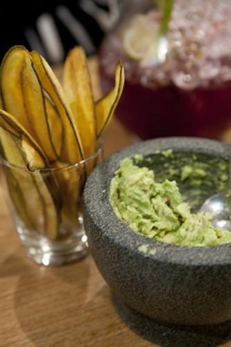 Guacamole and Plantan Chips