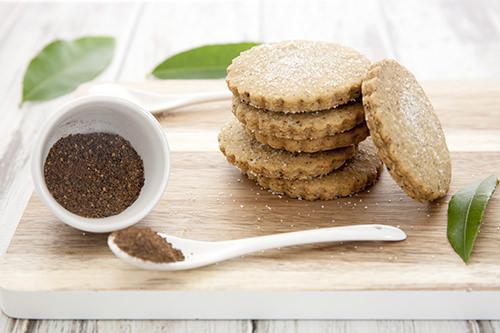 Lemon Myrtle and Wattleseed Shortbread Cookies