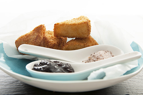 Deep Fried Camembert with Spiced Cherry Paste -Christmas Appetizer