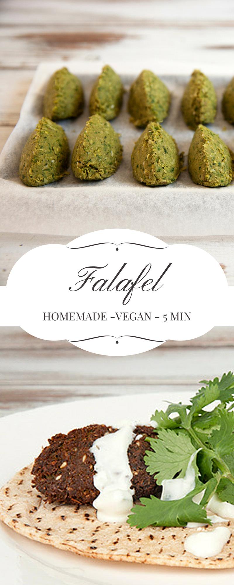 Vegan Homemade Falafel Pin