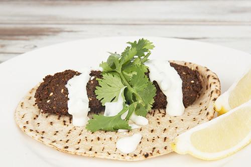 Homemade Falafel Wrap - Vegan