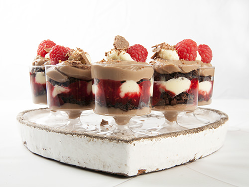 Raspberry Chocolate Christmas Trifle