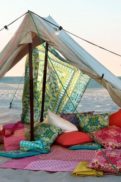 Tent Glamping on the Beach