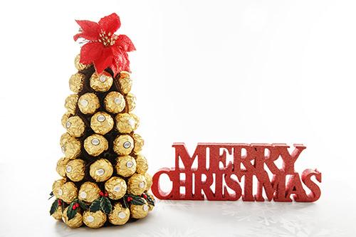Chocolate Christmas Centrepiece