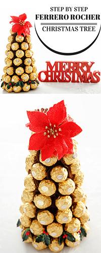 Ferrero Rocher Christmas Tree Pin
