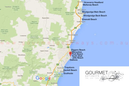 Coffs Coast Surf Spots Map