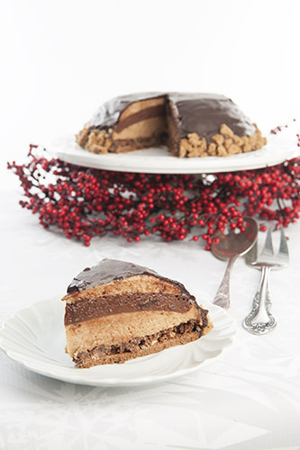 Sliced French Christmas Layer Cake
