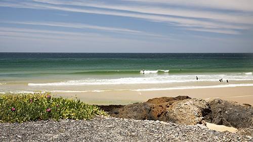 Surfer at Gallows Beach - Bodyboard Surf Spot