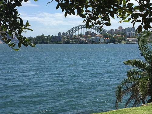 Sydney Harbour Bridge from Cremorne Point Reserve