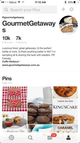Gourmet Getaways Pinterest Page
