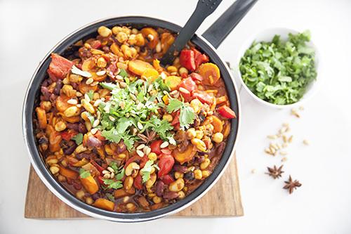 Vegan Spiced Moroccan Beans